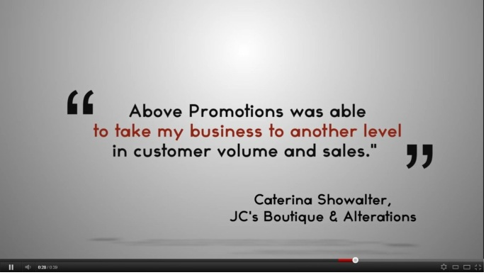 Above Promotions Company Commercial Still Shot - Publicity Agency, Marketing Company, Product Promotions