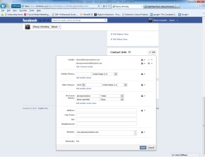 Facebook Hid My Email Address! Above Promotions Company. 2012