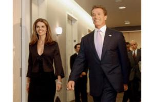 Arnold Schwarzenegger and Maria Shriver. Photo provided by Rich Pedroncelli/AP/Christian Science Monitor. 2012.
