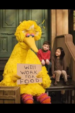 Romney Upsets Sesame Street Fans. Presidential Debate October 3, 2012. Above Promotions Company. Tampa, FL. Viral Photo.