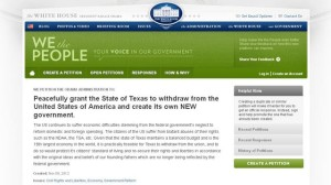 Texas and other states petition for secession from the United States. Photo courtesy of WhiteHouse.gov and ABC News. Above Promotions Company. Tampa, FL 2012