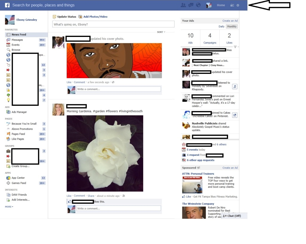 Facebook Graph Search New Header. Above Promotions Company. Tampa, FL 2013.