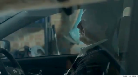 An ad for Hyundai's iX35 Fuel Cell SUV featuring a man's failed attempt at suicide. Image provided by CNN/Youtube. Above Promotions Company. Tampa, FL 2013.