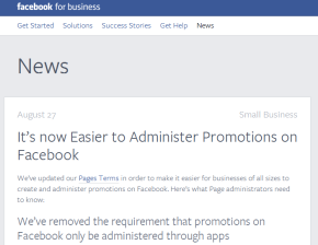 You Can Now Administer Promotions on Facebook without an App. Above Promotions Company Tampa, FL 2013
