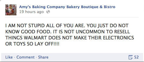The Great Baking Meltdown of 2013. Amy's Baking Company PR Crisis. Above Promotions Company. Tampa, FL