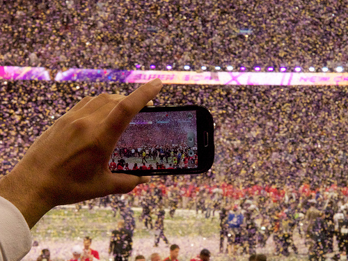 Take Your Super Bowl Party Digital. Photo by Au Kirk. Above Promotions Company. Tampa, FL.