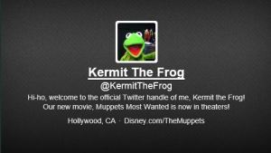 Kermit the Frog of the Muppets is now on Twitter. Above Promotions Company. Tampa, FL.