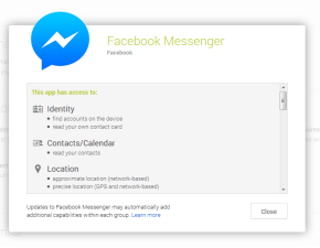 Android Privacy Settings for Facebook Messenger. Above Promotions Company. Tampa FL