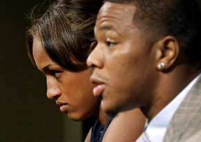 Ray Rice and wife, Janay Rice. Photo credit: Patrick Semansky/AP and New Yorker. Crisis Communications. PR. Tampa FL Above Promotions Company