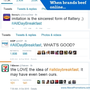 Brands Hijack McDonald's #AllDayBreakfast Twitter Promotion. Above Promotions Company. Tampa, FL.